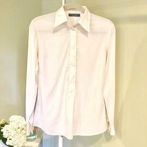 Dolce & Gabbana crisp white button up dress shirt